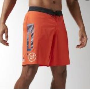 Reebok Crossfit Boardshorts Orange Men Medium